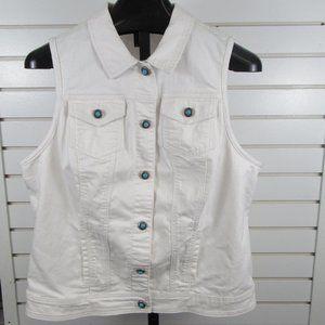 Avenue Denim Vest with cute buttons sz 18/20